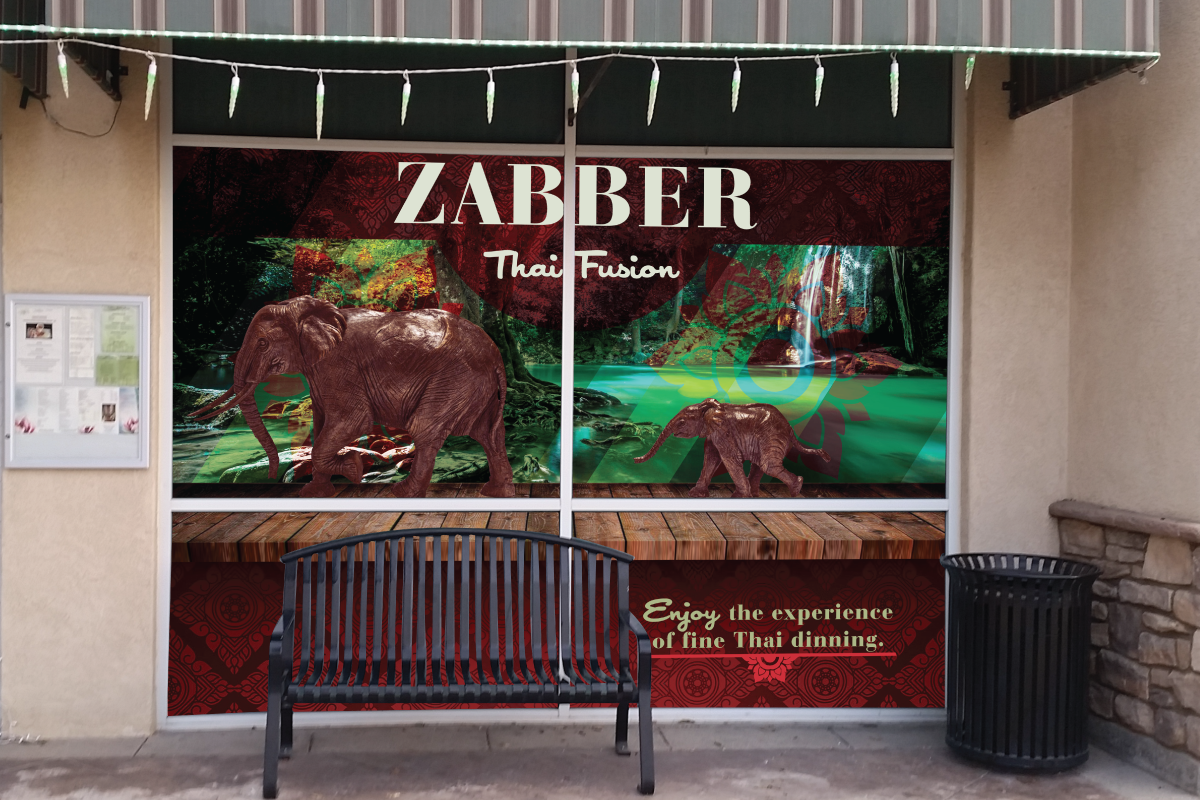 Zabber Thai Fusion Window Graphics